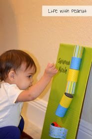 Life With Peanut: Activities for a One Year Old - #1: Cardboard Tubes