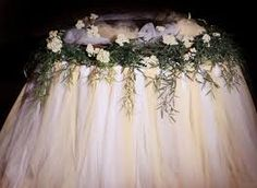 Image result for tulle wedding cake table