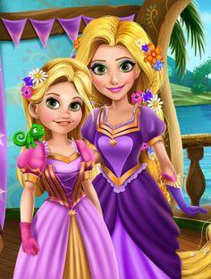 Rapunzel and Her daughter by unicornsmile on @DeviantArt