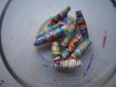How to Make Rolled Paper Beads- Fun Eco-Friendly Kids Craft