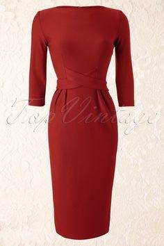 60s Vickie Criss Cross Dress in Tango Tangerine
