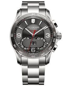 Victorinox Swiss Army Watch, Men's Chrono Classic Stainless Steel Bracelet 41mm 241618
