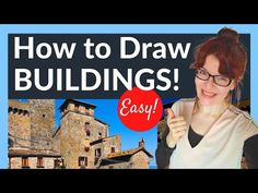Building Perspective Drawing (9 Clever tricks!) - YouTube Drawing Tutorials For Beginners, Building Drawing, Perspective Drawing, Watercolor Artists, Clever, Drawings, Youtube, Tools, Instruments