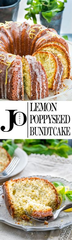 This gorgeous Lemon Poppy Seed Bundt Cake is beautifully paired with a sweet lemony glaze resulting in a delicious cake. Perfect with your cup of tea or coffee!