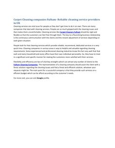 cleaning-companies-fulham by john smith via Slideshare Carpet Cleaning Company, Cleaning Companies, John Smith, Fulham, Carpet Cleaners, Cleaning Service, How To Clean Carpet, How To Make, Cleaning Services Company