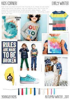 Kids Corner is a younger boys Autumn/Winter trend! 2016 Fashion Trends, 2016 Trends, Winter Kids, Summer Kids, Peclers Paris, Style Hipster, Fashion Design For Kids, Style Outfits, Summer Outfits