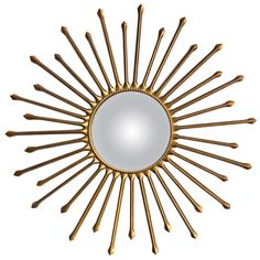 Sunburst Mirror, France, circa 1950 | From a unique collection of antique and modern convex mirrors at http://www.1stdibs.com/furniture/mirrors/convex-mirrors/