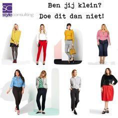 Tips/ advies/ kledingtips/ figuurtips voor de kleine vrouw | Style Consulting Fashion Show, Fashion Outfits, Womens Fashion, Fashion Tips, Curvy Fashion, Urban Fashion, Winter Outfits, Casual Outfits, French Girls