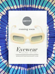 More eyewear soon on Eyewear, Retro, Shop, Eyeglasses, Sunglasses, Retro Illustration, Eye Glasses, Store, Glasses