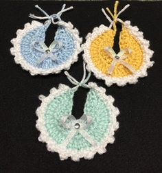 Items Similar To Crochet Baby Shower Favor Mini Bibs With Bow And  Rhinestone   Pack Of 5 On Etsy