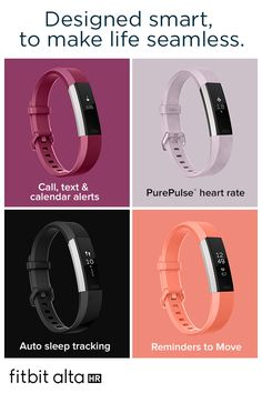 Move to the beat of you with Fitbit Alta HR™—the heart rate wristband that motivates you to reach your health goals in style. Track your all-day activity and sleep, stay connected with smartphone notifications, and get friendly Reminders to Move.