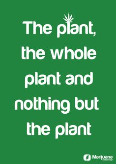 the plant, the whole plant and nothing but the plant