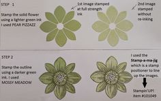 The Stamp-a-ma-Jig = the secret to perfect image positioning . . . this stamp set is Stampin'UP!'s Petal Potpourri
