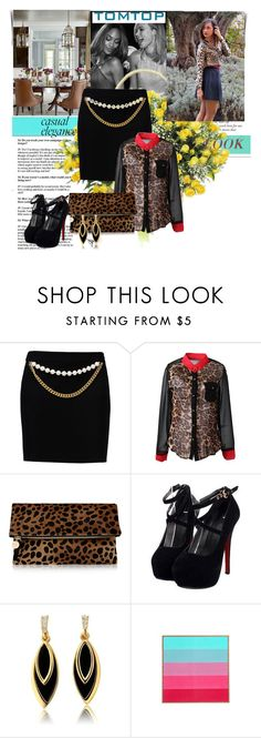"""""""TomTop11"""" by gold-phoenix ❤ liked on Polyvore featuring Serene House, Boutique Moschino, Clare V., DENY Designs and tomtop"""