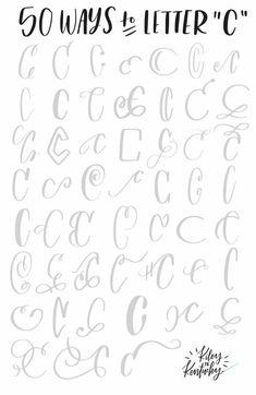 50 ways to letter c #HandwritingTips Hand Lettering Alphabet, Doodle Lettering, Creative Lettering, Lettering Styles, Brush Lettering, Abc Alphabet, Calligraphy Doodles, Calligraphy Handwriting, Calligraphy Letters
