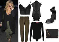 Dressebrity: GET THE LOOK: TOWIE's Danielle Armstrong 'Khaki Joggers and Waterfall Jacket' Hourglass Figure Fashion, Khaki Joggers, Waterfall Jacket, Inspired Outfits, Outfit Goals, Mix N Match, Get The Look, Celebrity, Military