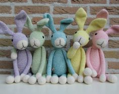 Stip & HAAK - Home Bunny Crochet, Easter Crochet, Diy Crochet, Crochet Dolls, Easy Crochet Patterns, Amigurumi Patterns, Knitting Projects, Crochet Projects, Fabric Animals
