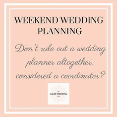 It's #WeekendWeddingPlanning time - Do you think you have ruled out a wedding planner altogether? Have you considered wedding coordinators to ease the pressure off on your big day? You can get in touch with us to understand more about our wedding coordinator packages and how we can help your dream wedding come true! 💍#wedding #weddings #theasianweddingguide #asianwedding #indianwedding #punjabiwedding #muslimwedding #blog #blogger #weddingblog #bride #groom #weddingplanning #weddingplanner…