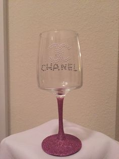 A personal favorite from my Etsy shop https://www.etsy.com/listing/258292351/custom-made-designer-wine-glass