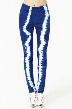 Sky Dye Skinny Jeans