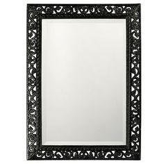 Howard Elliott Rectangle Bristol Glossy Metallic Black Mirror