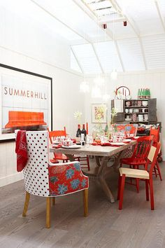 5 Lovely Red Paint Colors And How To Use Them Dining RoomsDining Room ChairsEclectic