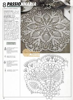 Kira scheme crochet: Scheme crochet no. Crochet Doily Rug, Crochet Doily Diagram, Crochet Mandala Pattern, Crochet Tablecloth, Thread Crochet, Crochet Gifts, Free Crochet, Lace Patterns, Crochet Patterns