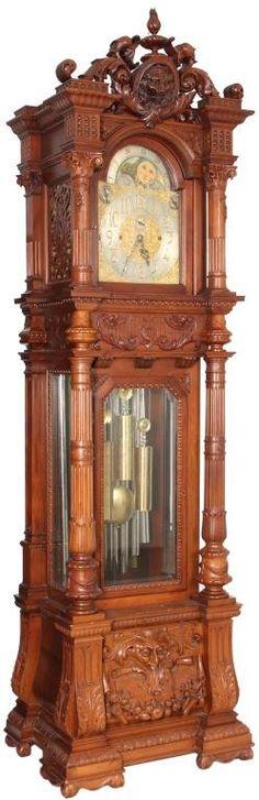 Monumental 9 Tube Grandfather Clock : Lot 129