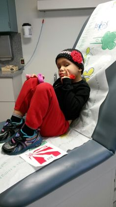 My Mina waiting on her scan results ; )