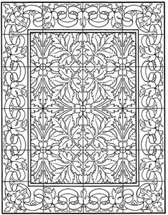 Coloring Page Tiles Kids N Fun