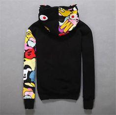 982f85afbf0f JAPAN Bape A Bathing Ape Men s Shark Head Jacket Sweats HOODIE BAPE Sweater Coat  Bape Hoodie
