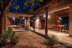 Villa Design, Courtyard Design, Interior Courtyard House Plans, Village House Design, Village Houses, Indian Home Design, Farmhouse Design, Farmhouse Plans, Farmhouse Architecture