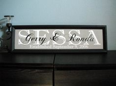 Established date wooden sign... Makes a great wedding or aniversary gift!