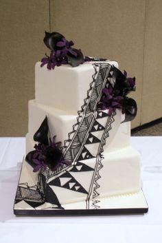 Tribal Wedding Cake!!