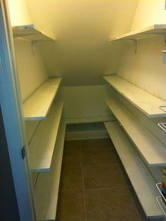 Mommy's Idea Notebook: Pantry Makeover: Under the Stairs