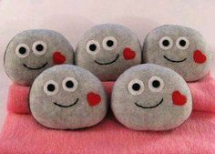 use rocks with different feelings