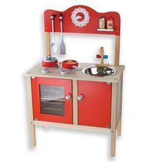 Houten kinderkeuken Andreu toys rood - kinderkeuken - Kinderkeuken