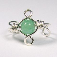 Celtic Knot Sterling Silver Ear Cuff Green Aventurine or Choice of 56 beads