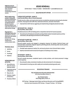 security officer resume objective security officer resume needs to be written carefully especially when it comes to explaining and emphasizing the skills