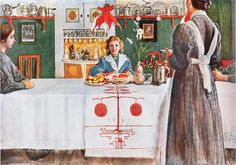 Carl Larsson. The Friend from Town 1909