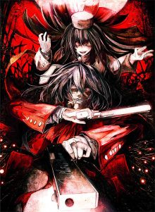hentai--alucard--ban-akira--black-hair--crazy-eyes--cross--gloves--glowing-eyes--gun--hat--hellsing--hellsing-the-dawn--long-hair--mouth-hold--necktie--pistol
