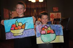 Bowl of Fruit painting - Cezanne - Deep Space Sparkle