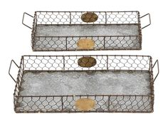 Amazon.com: Deco 79 Metal Galvanized Tray, 20 by 19-Inch, Set of 2: Home & Kitchen