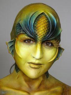 Body paint... Aquatica. From Cinema Makeup School
