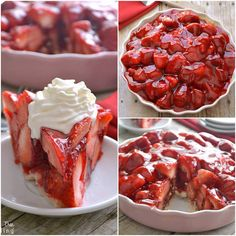 Strawberry pie- INGREDIENTS Crust ½ c. sugar 1 c. flour Filling 2 c. water 2 c.) package strawberry jell-o 3 quarts strawberries, cleaned and de-stemmed *If Best Strawberry Pie Recipe, Strawberry Cream Pies, Strawberry Glaze, Strawberry Juice, Strawberry Desserts, Strawberry Garden, Pie Recipes, Dessert Recipes, Cooking Recipes