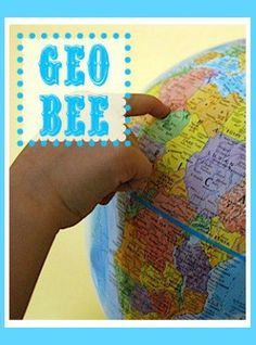 Geo Bee Resources for Kids- everything you need to know to register, study, and participate in the National Geographic Bee! Great resource and study guide list. Learning Resources, Teaching Tools, Teaching Kids, Competitions For Kids, Student Centered Learning, Geography For Kids, Global Awareness, Map Skills, Educational Technology
