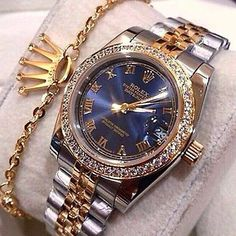 Image shared by Find images and videos about gold, diamond and rolex on We Heart It - the app to get lost in what you love. Latest Women Watches, Trendy Watches, Watches For Men, Men's Watches, Cute Jewelry, Jewelry Accessories, Men's Jewelry, Expensive Watches, Expensive Jewelry