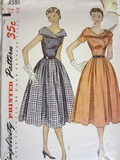 Simplicity 3581, these patterns  would be cute framed in a sewing room
