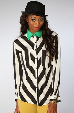 The Diagonal Striped Top by Reverse