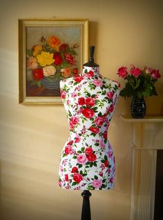 1950s Inspired Floral Mannequin by CorsetLacedMannequin on Etsy